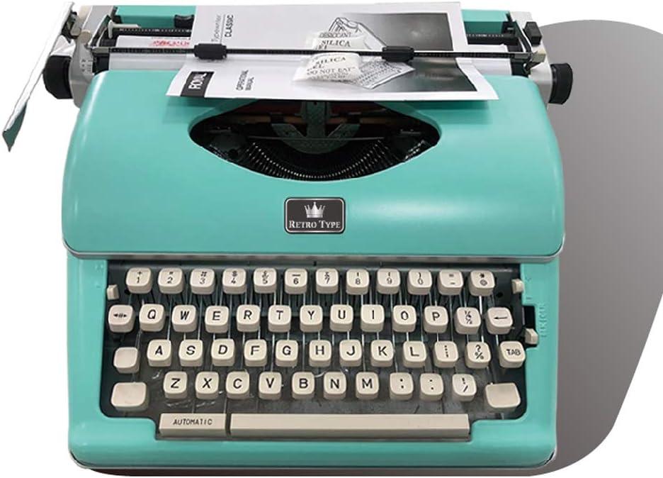 PENKJPS Retro máquina de Escribir portátil Teclado de Metal ...
