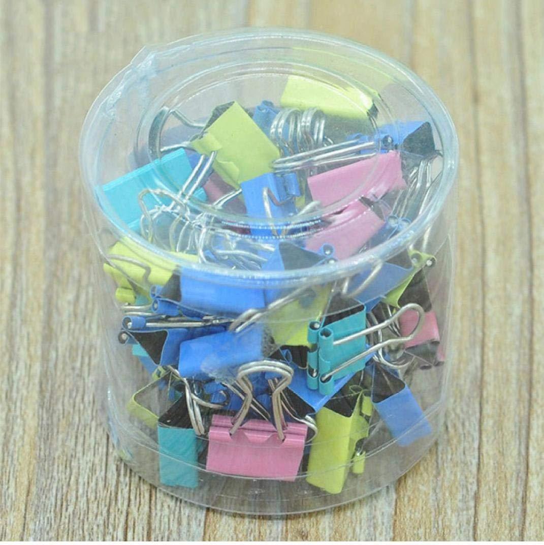 Case/&Cover Bolsa de Clip 60x Colorido Archivo de Papel Metal de Enlace de entradas Clips 15mm Oficina de la Escuela Suministro de Grapas Color al Azar