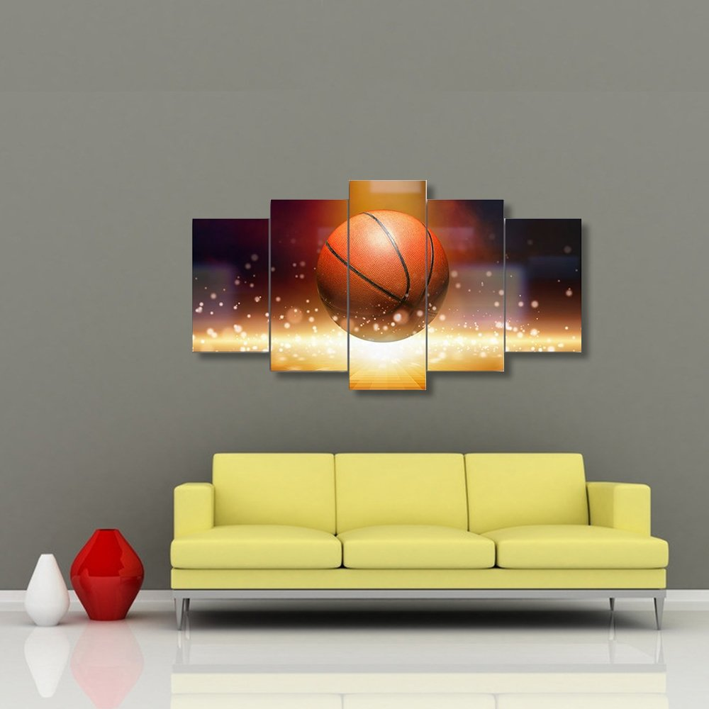 Amazon.com: Basketball Sports Canvas Wall Art Boys Bedroom Decor ...
