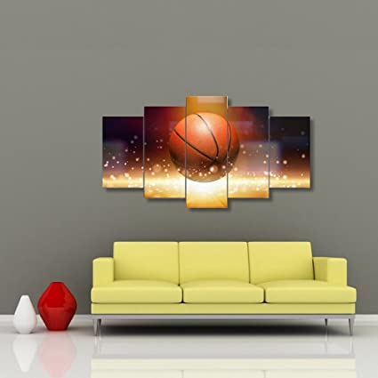 Basketball Sports Canvas Wall Art Boys Bedroom Decor Baskeball Decor For  Sports Room U0026 Game Room