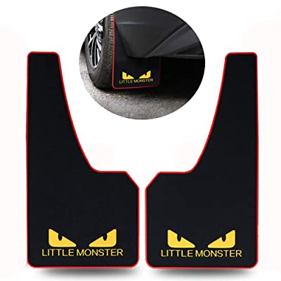 LLJSTAT Soft Material Automotive Fender Car Mud Flaps Universal Fit Black Splash Guards Rubber mud Guard No Collision Universal 43.5cm23cm0.5cm (LITTLEMONSTER): Automotive