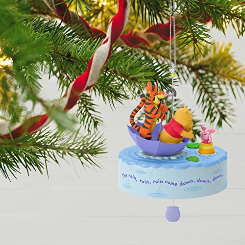 Hallmark Keepsake 2017 Winnie the Pooh A Blustery Day Musical Christmas Ornament With Motion by Hallmark (Image #1)