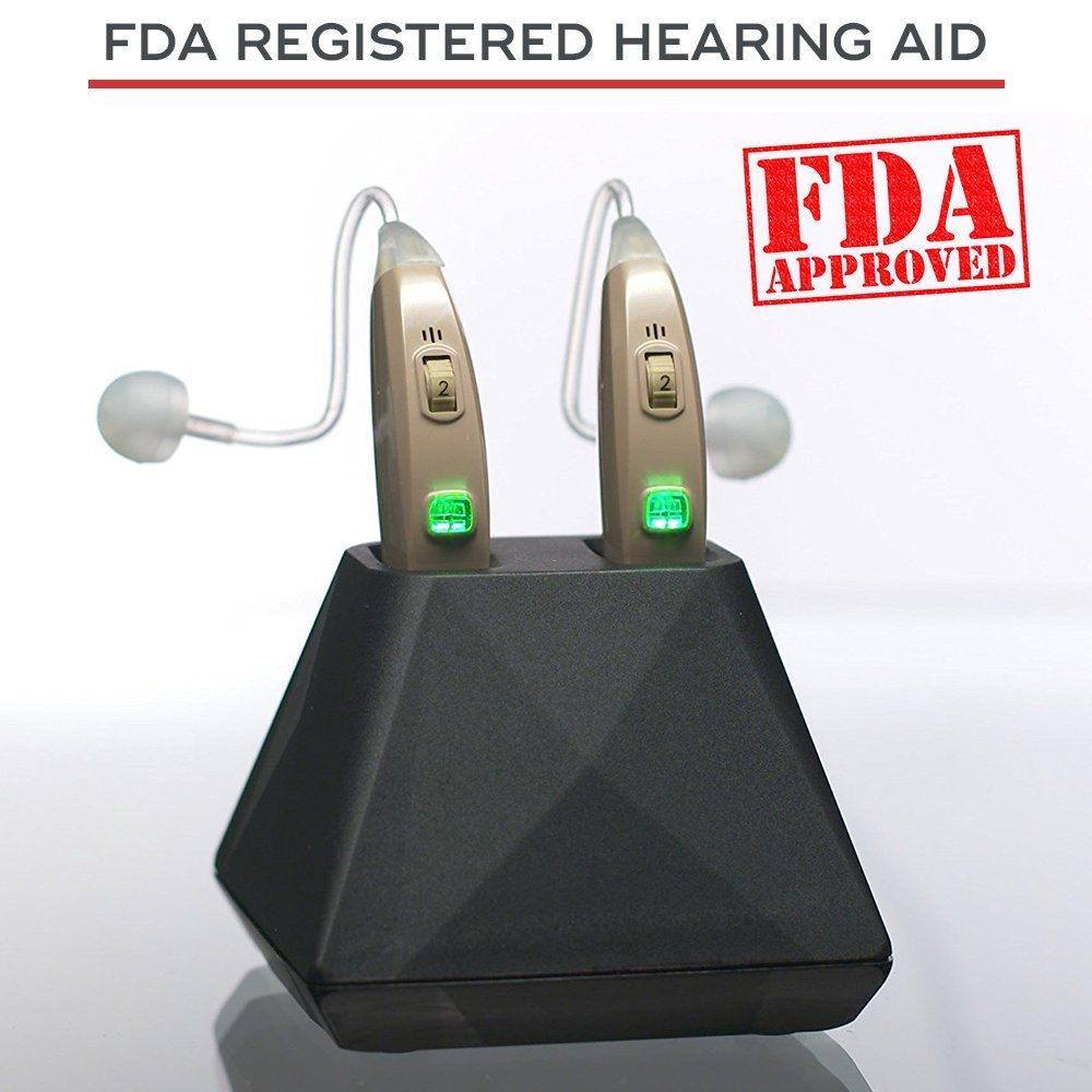 Hearing Assist Recharge Rechargeable Bte Air Living Aids Amplifiers Accessories Conduction Aid Both Ears Fda Registered With Charging Case Tv Offer Free