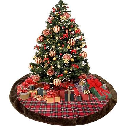 Amazon Com Shelly 45 Inch Red Black Buffalo Lattice Tree Skirt 45