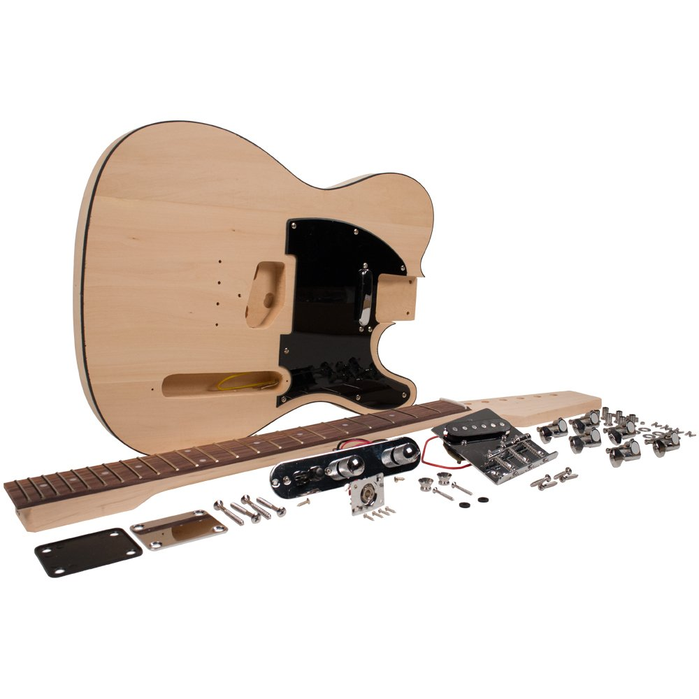 Seismic Audio - SADIYG-03 - Premium DIY Traditional Electric Guitar Kit - Unfinished Luthier Project Guitar Kit
