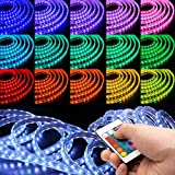 WYZworks SMD 5050 LED Flexible Dimmable Indoor/Outdoor Light Strip (16 Colors) with Remote and LED Controller/IR Receiver - 25, 50, 100 & 150 Feet (100 ft)