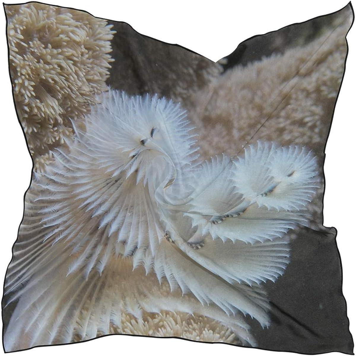 Soft Polyester Silk Scarfs For Women Fashion Print Wild Christmas Tree Worm Cayman Island Reef Neck Scarf Hair Accessories Scarf Head Scarf Men Multiple Ways Of Wearing Daily Decor