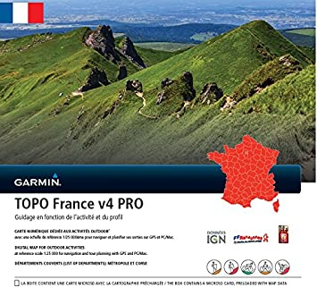 carte topo garmin v4 gratuite Garmin   Carte TOPO France V4 Pro   France entière: Amazon.fr: GPS