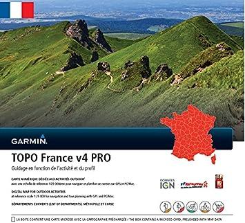 carte topo france v4 Garmin   Carte TOPO France V4 Pro   France entière: Amazon.fr: GPS