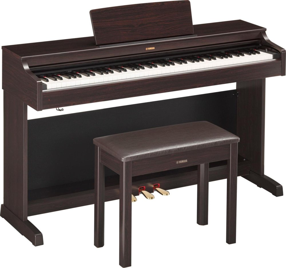 Yamaha Arius YDP-163 88-Key Digital Console Piano with Bench Dark Rosewood RYDP163R