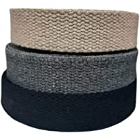 Heavy Cotton Webbing 1 Inch - Straps for Arts and Crafts - 5, 10, 20, or 50 Yards, Over 10 Colors (Black, 5 Yards)