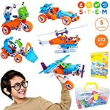 STEM Toys for Boys and Girls | Fun Educational Engineering Toys for 7 8 9 10+ Years Old | Creative STEM Learning Building Blocks Set | 132 Pcs Kit with Box | Best Toy Gift for Kids 8-12 Years Old