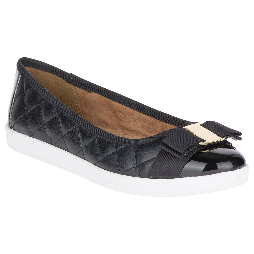 Soft Style by Hush Puppies Women's Faeth Flat, Black, 7 N US