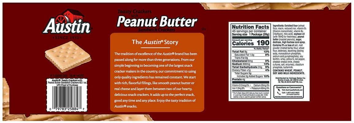 Austin – Toasty petardos W/de mantequilla de cacahuete, 8-Piece ...