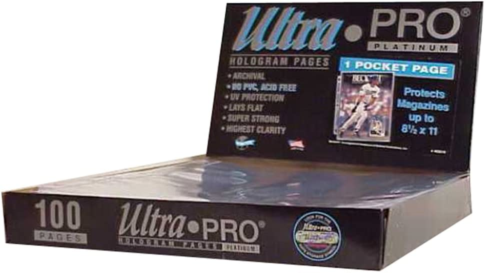 25 Pages Ultra Pro 1 Pocket COMIC BOOK Pages