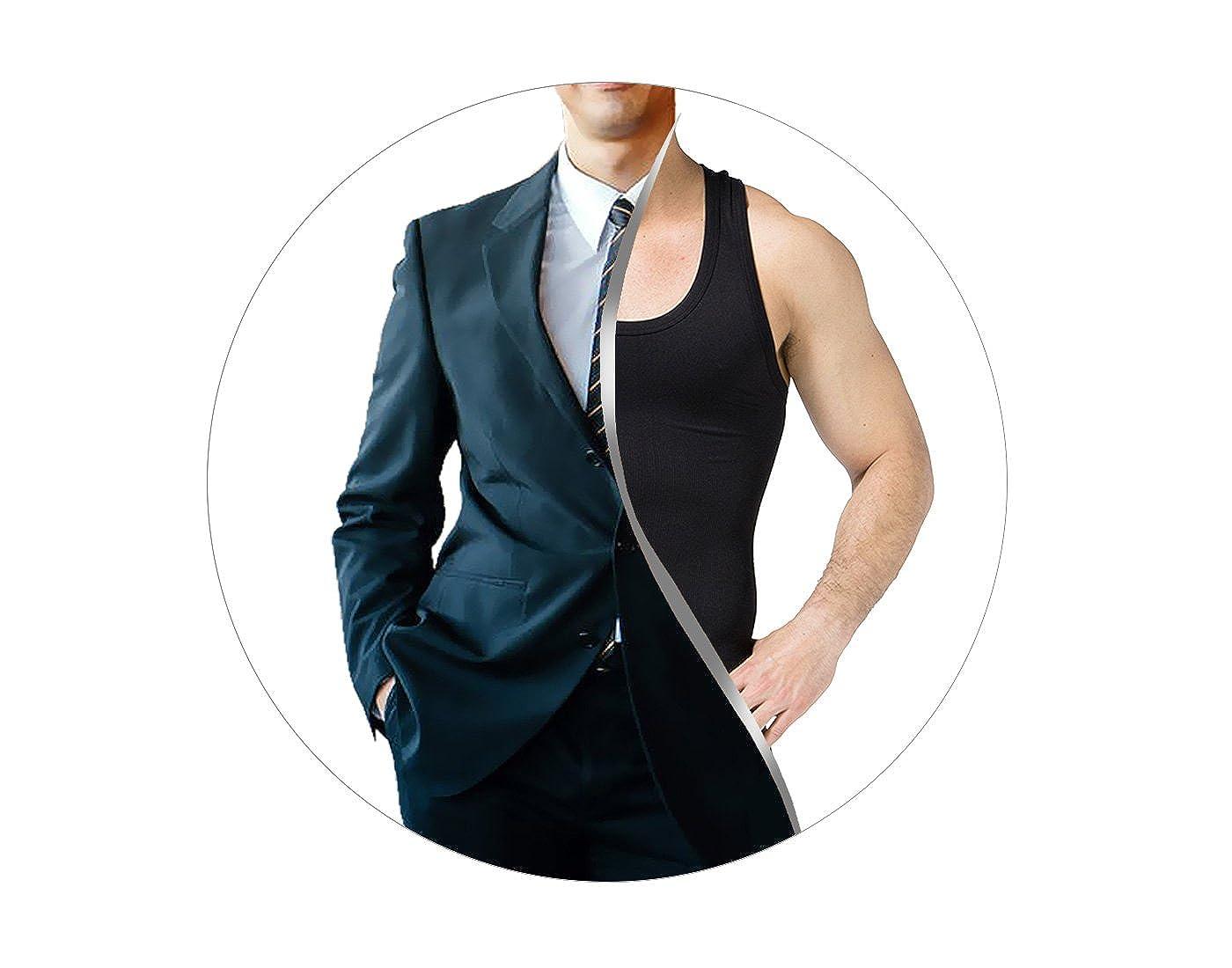 FEOYA - Chaleco Interior sin Costura con Faja Abdominal para Hombre  Reductora Adelgazante Suave Transpirable Absorción Ampliar imagen 28c59bdeaa2d