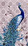 OneHippo 5D DIY Crystals Diamond Rhinestone Painting Pasted Paint By Number Kits Peacock (Head to Right),40x58 CM