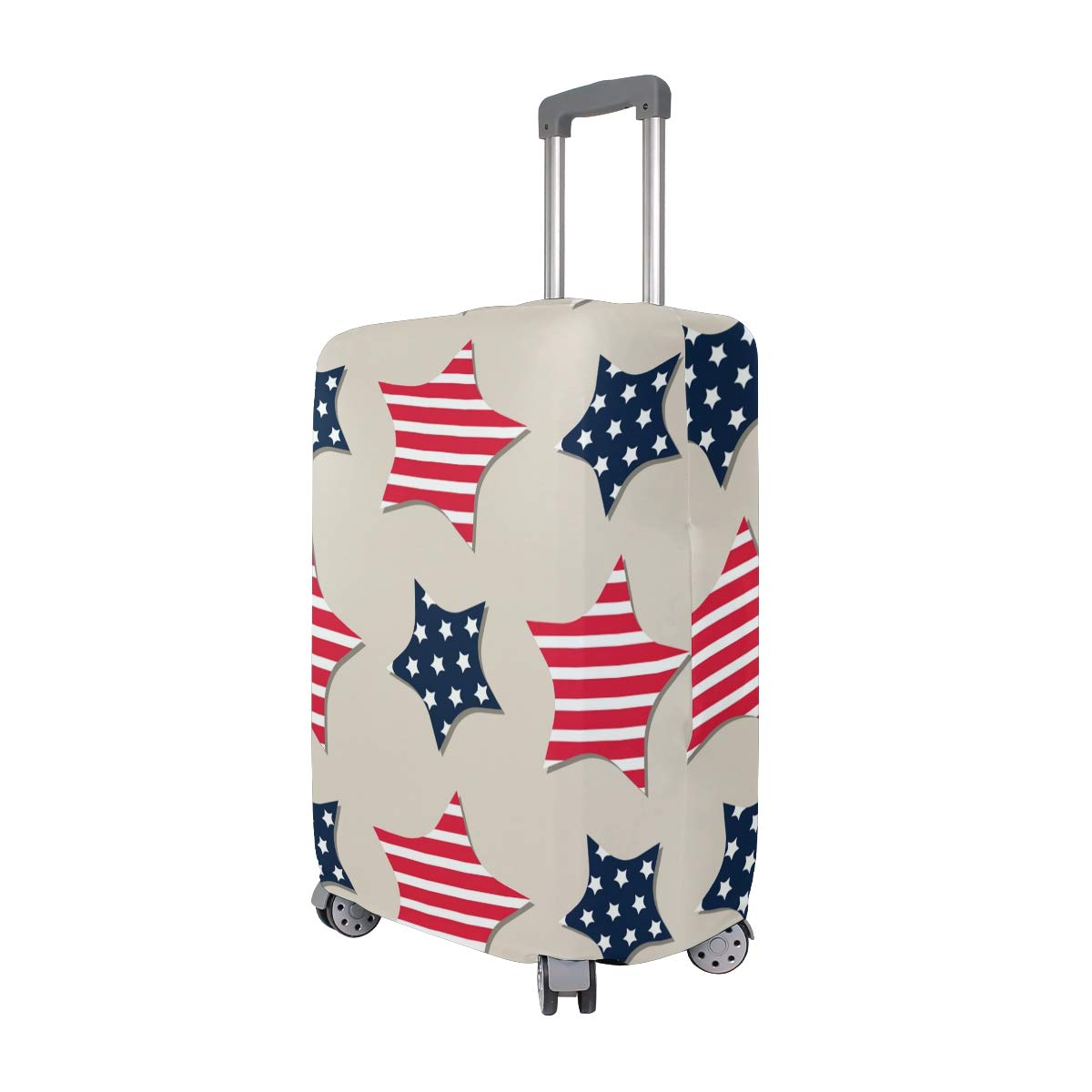 Baggage Covers Star Pattern Red Navy Color Stripes Washable Protective Case