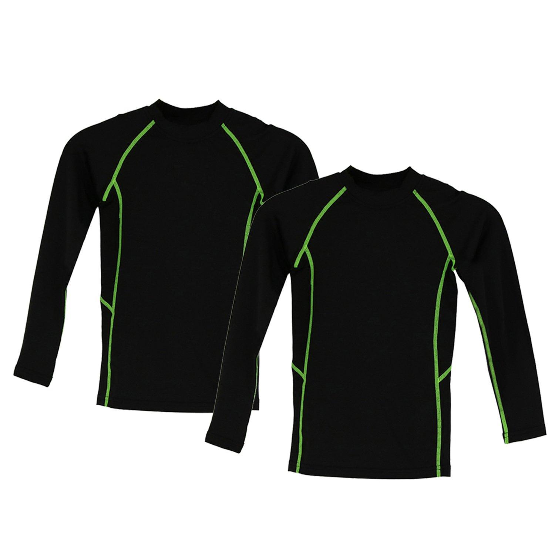 Minghe Kinder Warme Unterwä sche Set Kompression Sporthemden Feuchtigkeitstransport 2er Pack