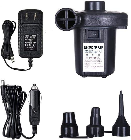 Amazon.com: HUAPPNIO Bomba de aire eléctrica portátil 110 V ...