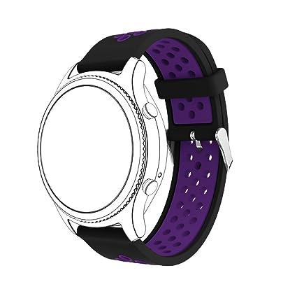 MINXINWY_ Correas para relojes Correa Samsung Gear S3 Classic, Pulsera Deportes Mujer Cinturón de Silicona