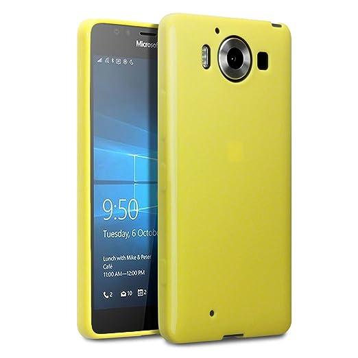 3 opinioni per Terrapin TPU Gel Custodia per Microsoft Lumia 950 Case, Colore: Giallo