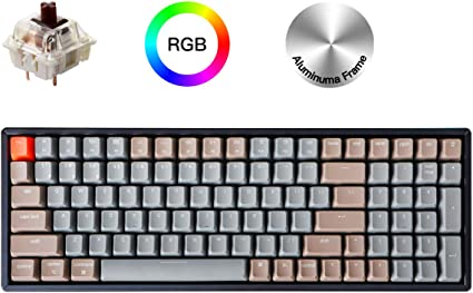 Keychron K4 Mechanical Keyboard Bluetooth Gaming Keyboard for Mac Windows PC Gamer Wireless Mechanical Keyboard with White LED Backlight//Gateron Brown Switch//Wired USB C 96/% Layout