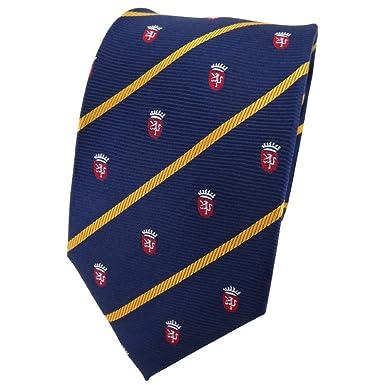 TigerTie diseñador corbata de seda - azul oscuro sol amarillo rojo ...