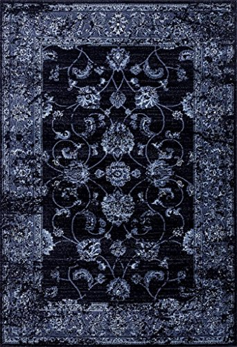 Cheap 4535 Distressed Navy 5×7 Area Rug Carpet Large New