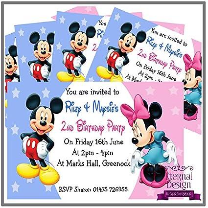 5 invitaciones de cumpleaños personalizables para niños ...