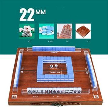 Mini Mahjong Set - Cajas De Madera Plegables Portátiles Estilo Retro Mesa Majiang, Juego Juego De Mesa Familiar Mah-Jong Viajar Entretenimiento En Interiores,Azul: Amazon.es: Deportes y aire libre
