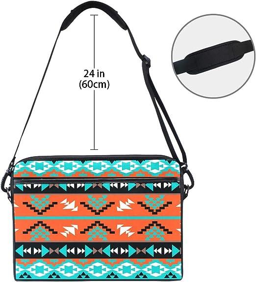 Laptop Messenger Tribal Pattern Seamless Vector Ethnic African Or Aztec Boho Print Design Handbag Laptop Bag Compatible 13-13.3 inch MacBook Air Pro 15 inch