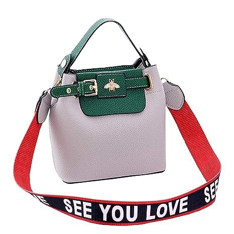 DEERWORD Mujer Shoppers y bolsos de hombro Bolsos bandolera Carteras de mano y clutches Gris