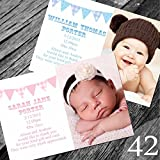 New Baby Thank You Cards with own Photo and Text (40)