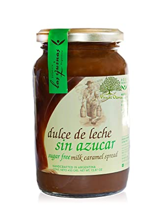 Milk Caramel Free Sugar From Argentine brand las Quinas 15.87 oz. Bottle Dulce de leche