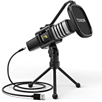 USB Microphone, TONOR Condenser Computer PC Mic with Tripod Stand, Pop Filter, Shock Mount for Gaming, Streaming…