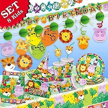 Selva de animales de cumpleaños Decoración de cumpleaños, 93 ...