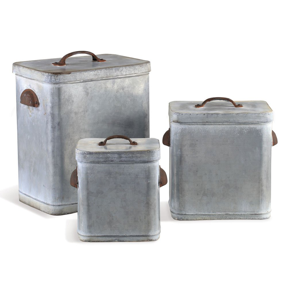 Porch & Petal Lidded Canisters, Set of 3