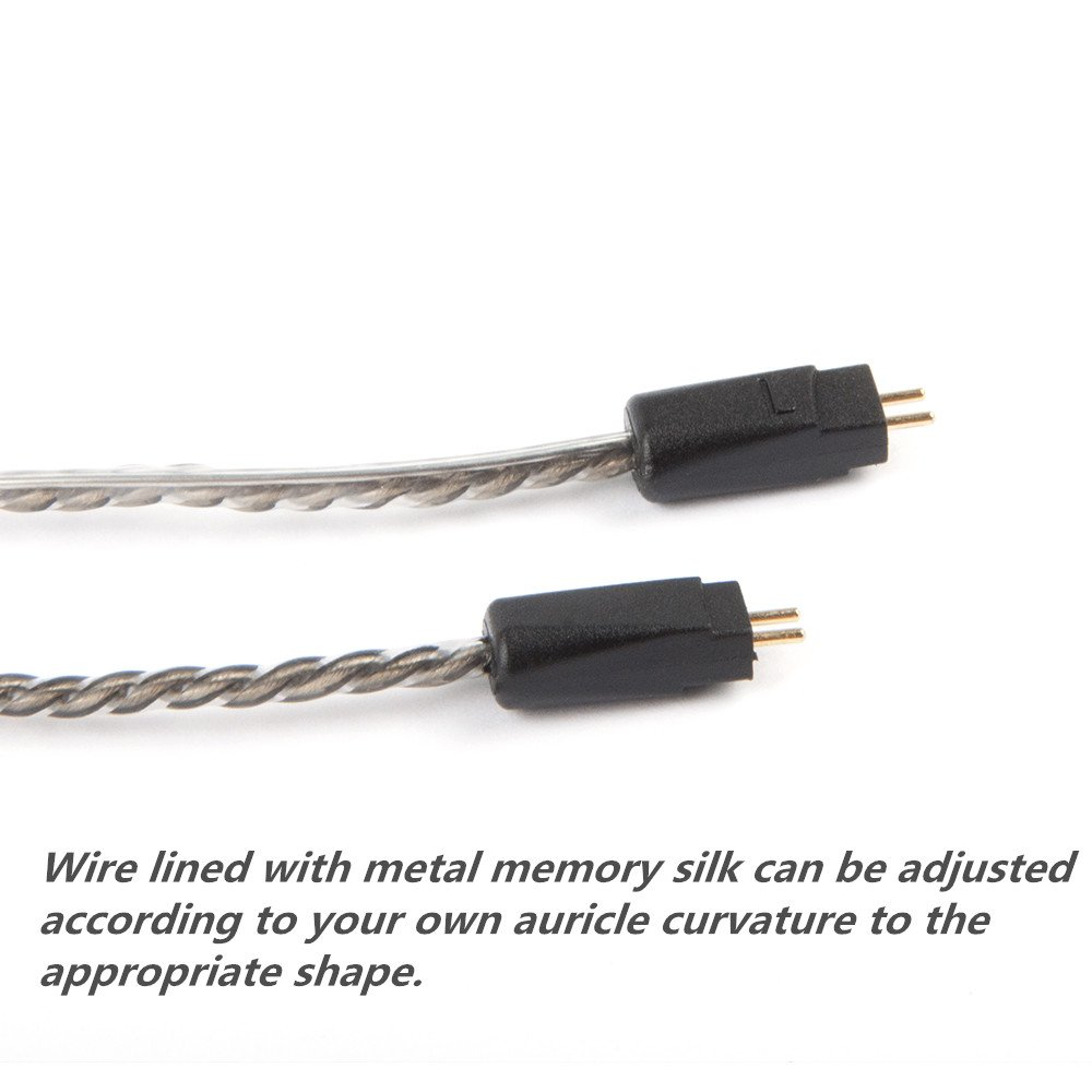 silver KZ ZST 0.75mm 2 pin Upgrade Silver Plate Replacement Earphones Cable for KZ Earphones