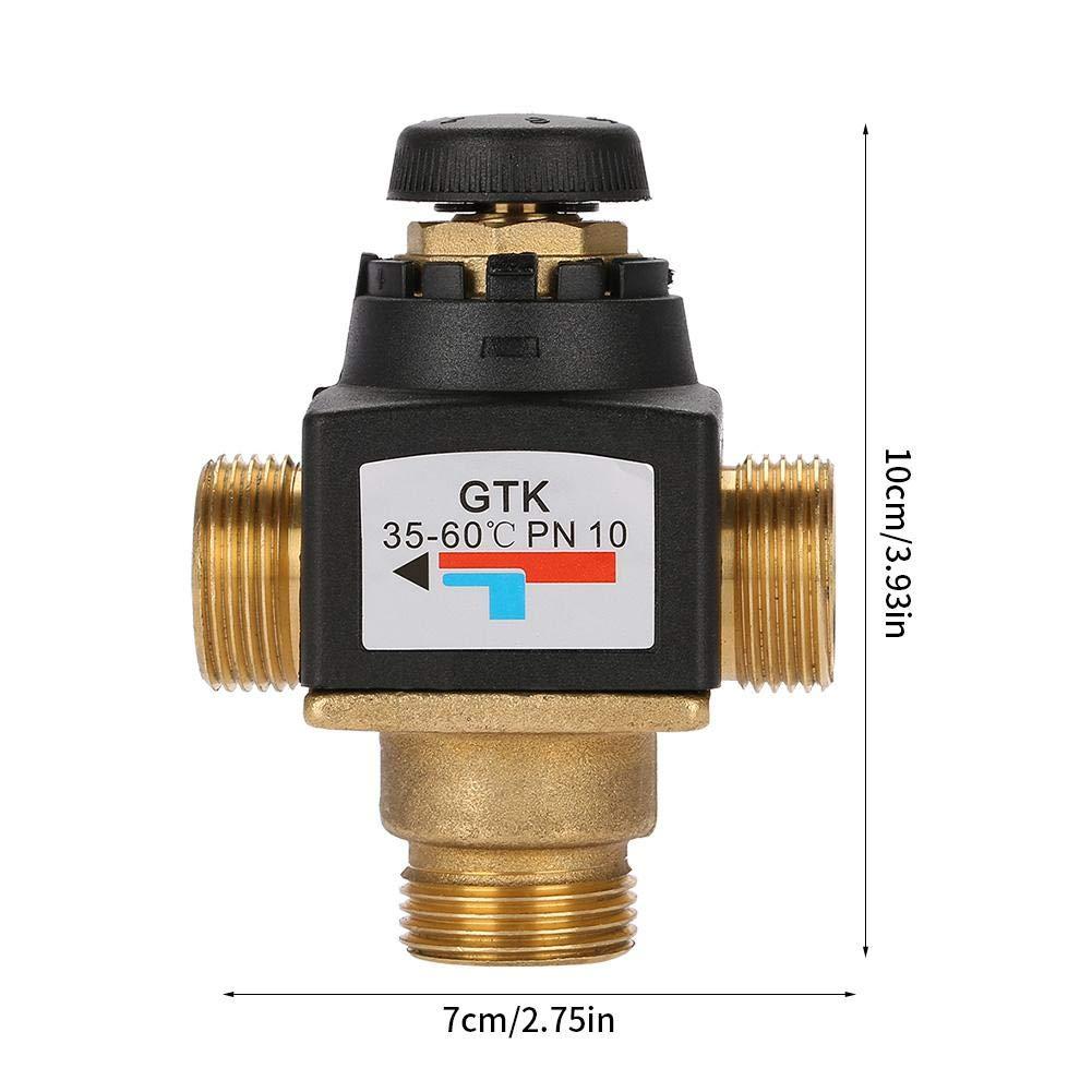Mitigeur thermostatique pour chauffe-eau solaire en laiton /à filetage m/âle 3 voies DN20
