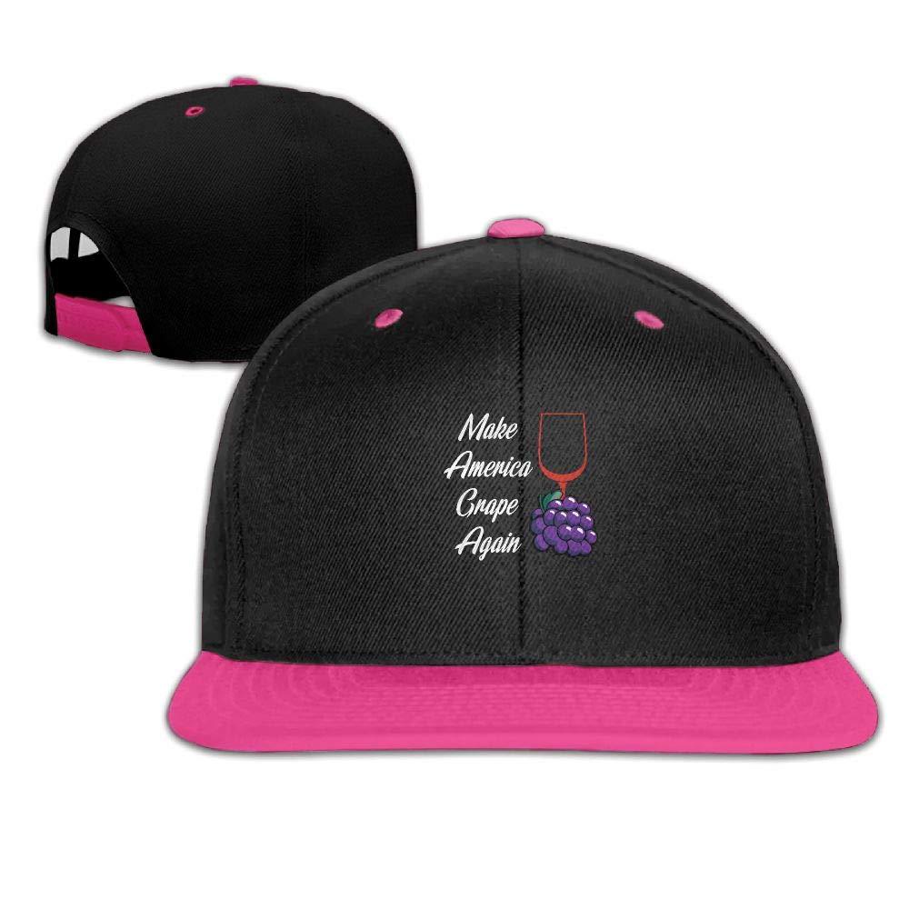 Tailing Make America Grape Again Unisex Hip-hop Hats Snapback Hat Solid Flat Cap