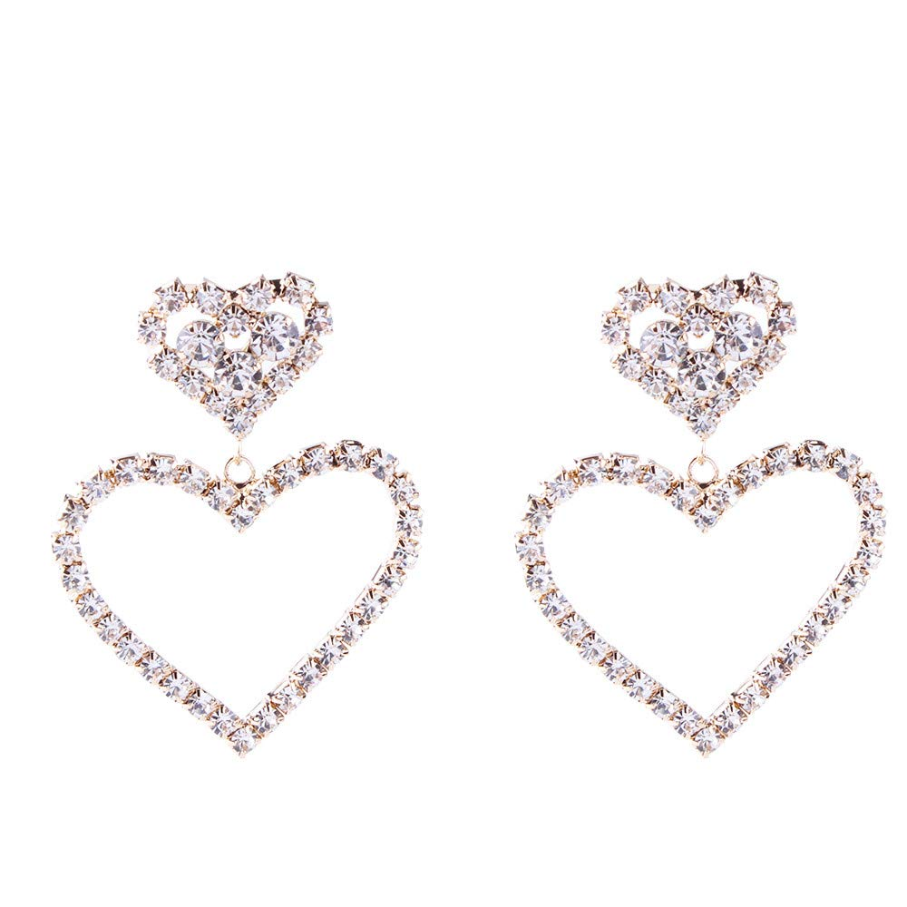 Toaimy Strange Creative Rregular Geometric Graphics Transparent Stud Earrings For Women Girl Female Lady