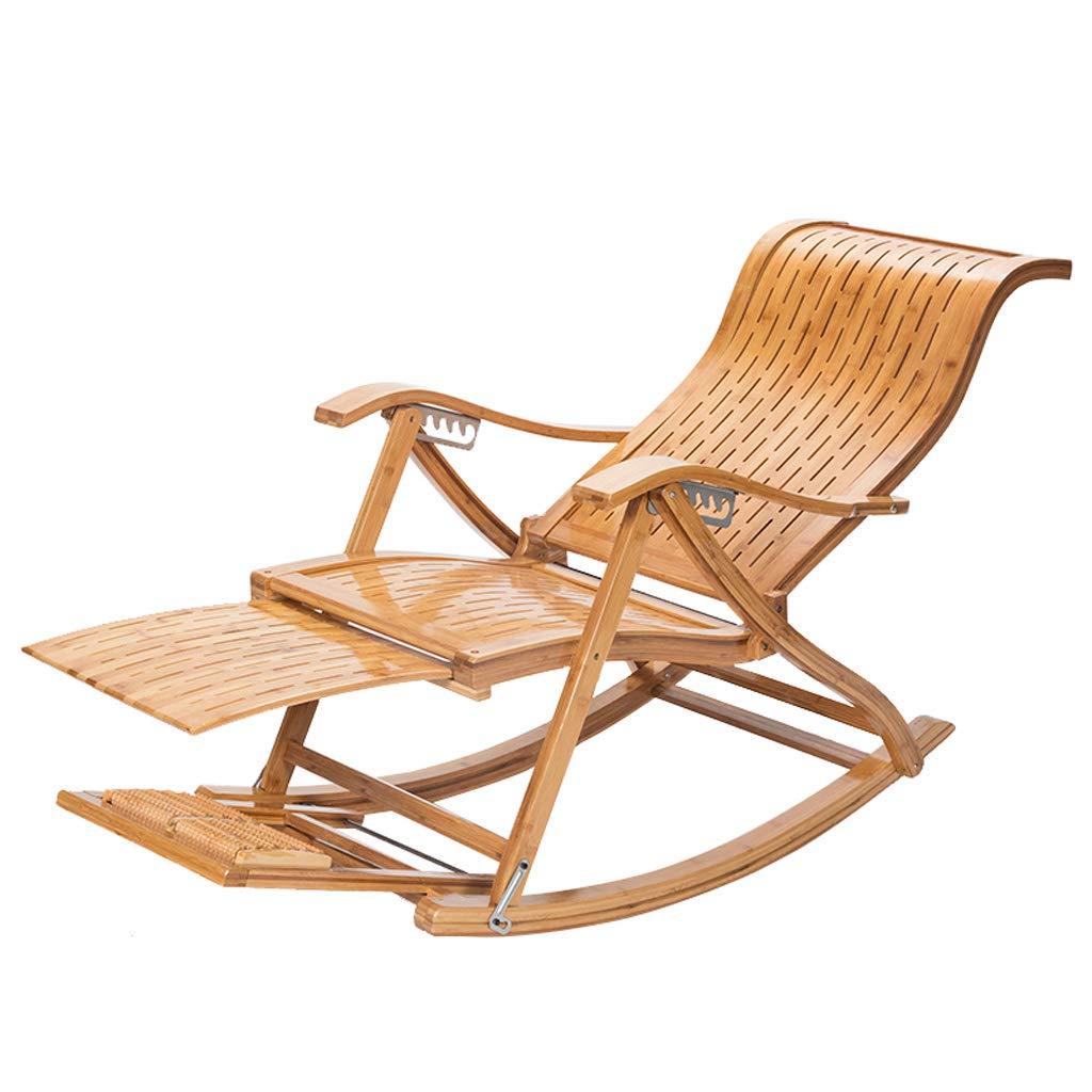 Klappstühle Folding Mittagspause Lounge Chair Bambus Recliner Alter Mann Nap Chair Schaukelstuhl Erwachsene Zurück Chair Cool Chair Nap Lounge Chair