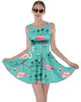 CowCow Womens Flamingo Birds Summer Pool Party Partydress Skater Dress, XS-5XL
