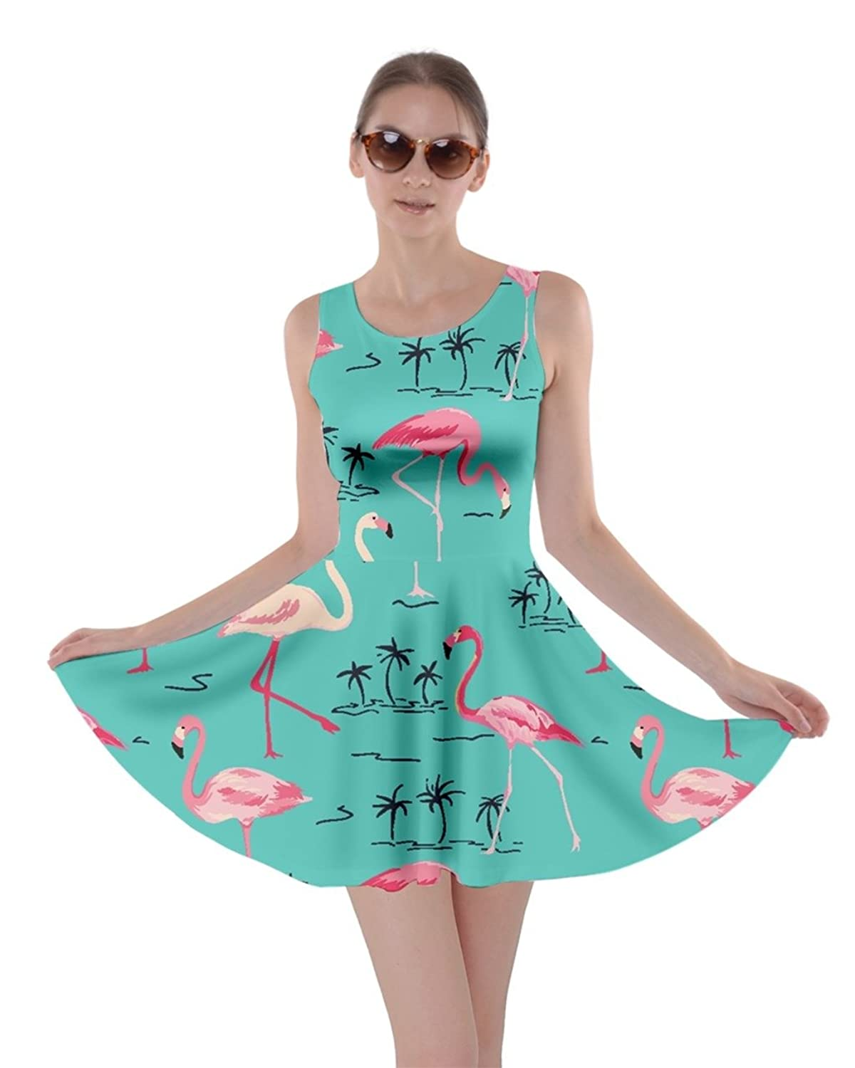 CowCow Womens Flamingo Birds Summer Pool Party Partydress Skater ...