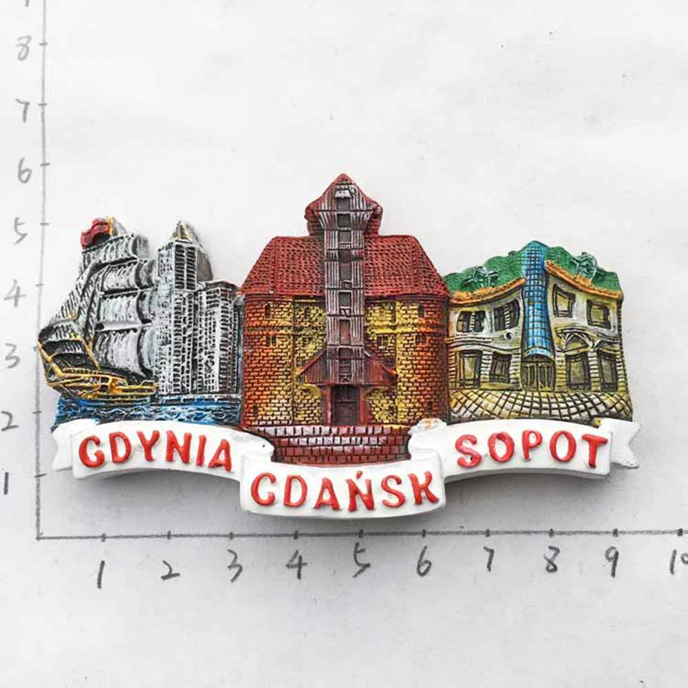 Imán para nevera, diseño de Polonia en 3D, ideal para decorar el ...