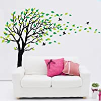 Large Tree Blowing in The Wind Tree Wall Decals Sticker Wall Mural Removable DIY Wall Sticker Vinyl Art Kids Rooms Teen…