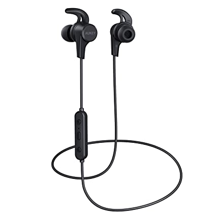 88bda84b484 AUKEY Wireless Bluetooth Headphones, Sports Earbuds with HiFi Sound, Nano  Coating Waterproof, 8