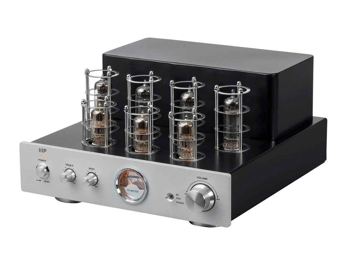 Monoprice Pure Tube Stereo Amplifier with Bluetooth Line and Phono Inputs