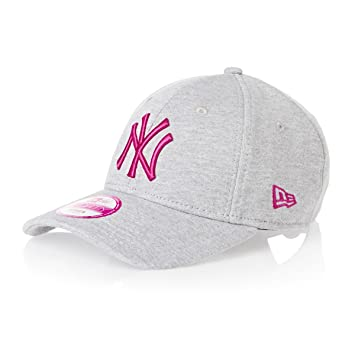 f3529a0190d New Era 9Forty Womens Jersey NY Yankees Baseball Cap - Grey Pink   Amazon.co.uk  Sports   Outdoors